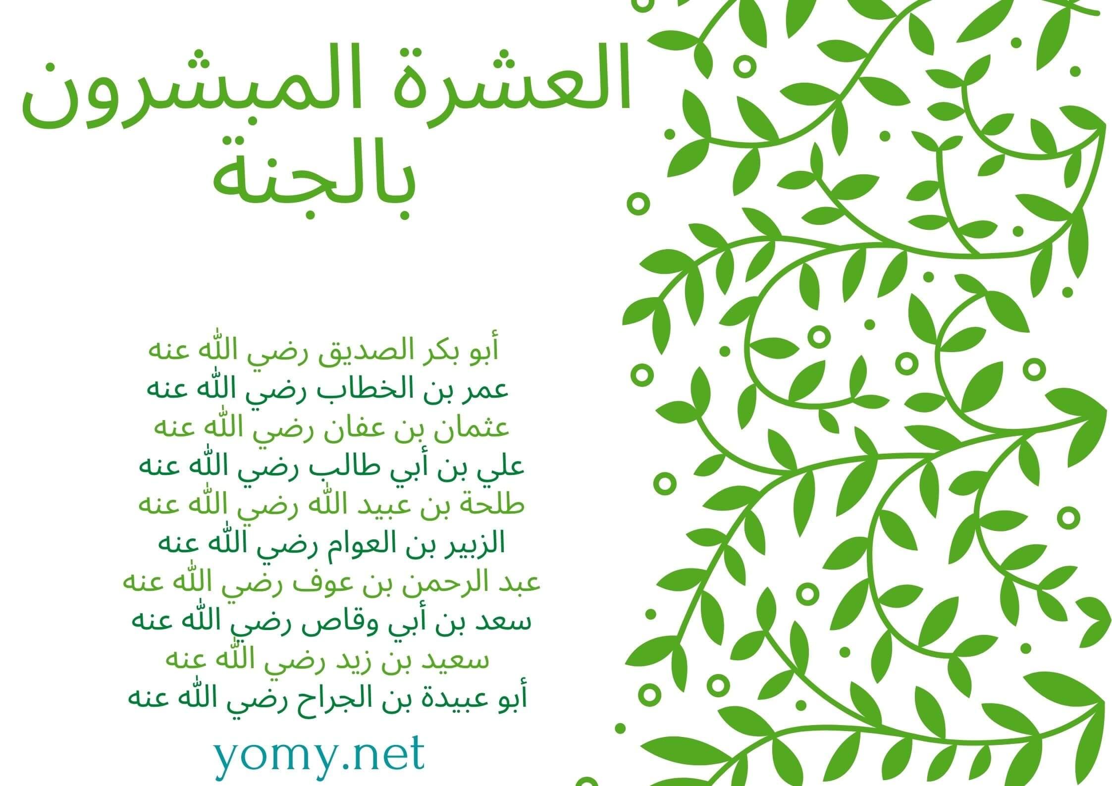 You are currently viewing العشرة المبشرون بالجنة